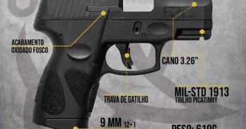 Pistola Taurus G2c 9mm