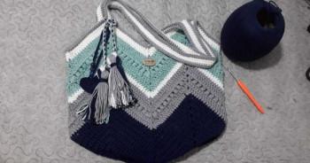 Bolsa linda croche 100%algodão