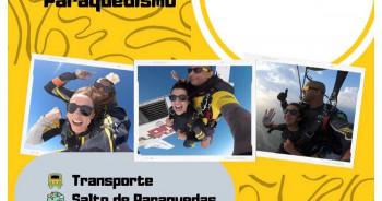 Salto de paraquedas com transporte 30/5