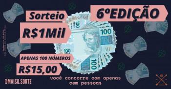 R$1.000,00 Mil Reais em Dinheiro